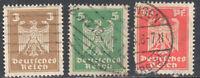 SC#355, 356 & 357  - Germany 1924 - Eagle Adler Definitives Used