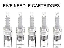 5 x 12 NEEDLE CARTRIDGE HEADS FOR AUTO MICRO DERMA NEEDLE PEN + UK SELLER £9.99