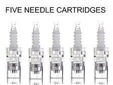 5 x 12 NEEDLE CARTRIDGE HEADS FOR AUTO MICRO DERMA NEEDLE PEN + UK SELLER £9.99