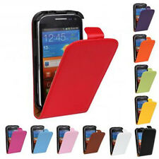 For Samsung Galaxy Ace 2 i8160 New Genuine Leather Flip Case Open Up Protector