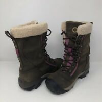 Keen Womens Hoodoo Winter Boots Brown Leather Lace Up Waterproof Warm Lined  6.5