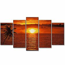 Schipper 609450728 Sunset in the Caribbean Polyptych painting by numbers