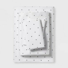 Project 62 + Nate Berkus 300 Tc Black Dots Modern Solid/Printed Sheet Set Queen