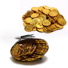 100 pcs/Pack Lot Set of Gold Plating Plastic Pirate Poker Casino S Dollar Chips