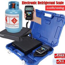 Digital Electronic Refrigerant Scale Charging Weight HVAC REFRIGERATION 200LB