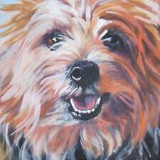 Yorkshire Terrier yorkie dog portrait art canvas PRINT of LAShepard painting 8x8