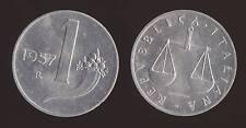 1 LIRA 1957 BILANCIA E CORNUCOPIA - ITALIA