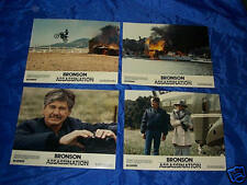 Orig Charles Bronson ASSASSINATION lobby card set 8x10