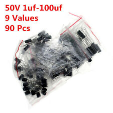 90pcs 50V 1-100UF 2.2UF 4.7UF 10UF 22UF 47UF  Electrolytic capacitor kit Radial
