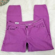 Gap 1969 Womens Always Skinny Jeans Size 33/16 (12) Low Rise Neon Violet Stretch