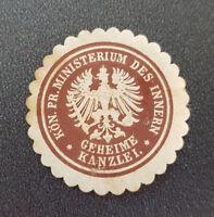 Siegelmarke Vignette Kön. Pr. Ministerium des Innern Geheime Kanzlei (8048-3)