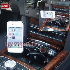 Long Car Mount Bendable Holder +USB+Cigarette Port/Outlet Fit Apple iPhone 4/4s