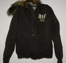 Abercrombie Boys Brown Sherpa Hoodie Jacket Size Large Brand New