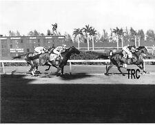 WAR ADMIRAL 8X10  HORSE RACING PHOTO WINNING 1938 WIDENER AT HIALEAH!