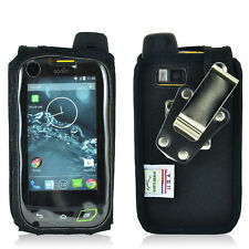 Turtleback Sonim XP7 Nylon Fitted Black Phone Case with Rotating Metal Belt Clip
