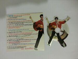 Elvis Presley - Official Denmark Fan club - SHAPED INTERVIEW CD IN SLEEVE - NICE