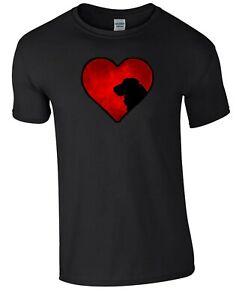 Black T-shirt, Cocker Spaniel in Heart Design Tshirt Dog Tee Shirt Xmas Gift