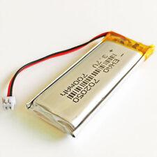 JST 1.25mm 3.7V 700mAh Lipo Rechargeable Battery for DVD GPS Camera PSP 702050