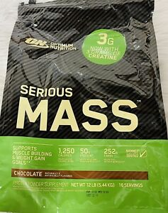 ON OPTIMUM NUTRITION SERIOUS MASS CHOCOLATE PROTEIN POWDER SUPPLEMENT-O10