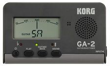 KORG GA-2 Stimmgerät Tuner für Akustik- + E- Gitarre - Bass DHL Paket versichert