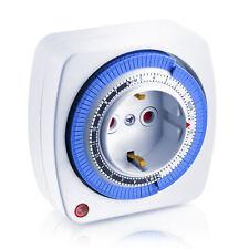 Arendo Zeitschaltuhr analog 96 Schaltzyklen mechanisch 24 Stunden 3500 Watt