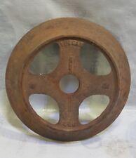 "Vintage Cast Iron Wheel 2x11""  Industrial Cart pulley gear steam punk lamp base"