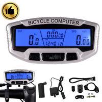 Bike LCD Backlight Computer Speedo Odometer Waterproof Speedometer Cycle Bicycle