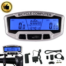 Bike LCD Backlight Computer Speedo Odometer Waterproof Speedometer Cycle Bicycle