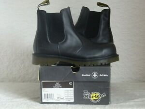 UNISEX DR MARTENS BLACK FINE HAIRCELL LEATHER CHELSEA BOOTS SZ 7 UK 41 EU EXCELL