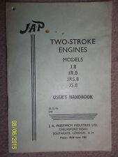 JAP MODELS J8 J.8 JR.8 JRS.8 & JS.8 ENGINE INSTRUCTION BOOK MANUAL USER HANDBOOK