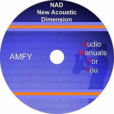 NAD servicemanuals, ownersmanuals and schematics on 1 dvd