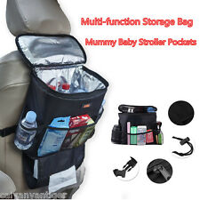 Multi-function Storage Bag Organizer Cooler Insulated Drinks For Travel Car Seat