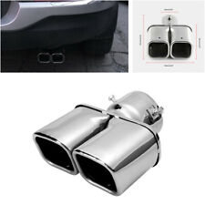 "Universal 63mm/2.5"" Stainless Steel Inlet Car Tail Rear Pipe Tip Muffler Cover"