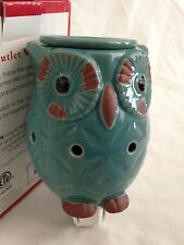 """Tuscany Teal Owl Bird 4X 5.5"""" Outlet Warmer Night Light Diffuser - 3 Pieces"""