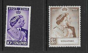 Singapore 1948 Silver Wedding mm