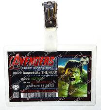 Marvel Avengers ID Badge The Hulk Superhero Cosplay Costume Prop Halloween
