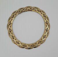 MONET Chunky Choker Statement Necklace Gold Tone Adjustable
