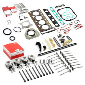 Engine Overhaul Rebuild Valves Kit For VW GTI Audi A4 2.0 TFSI CDN CCZ CCTA CAEB