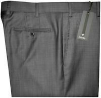 $325 NEW ZANELLA NORDSTROM DEVON DARK GRAY WEAVE SUPER 120'S WOOL DRESS PANTS 42