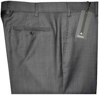 $325 NEW ZANELLA NORDSTROM DEVON DARK GRAY WEAVE SUPER 120'S WOOL DRESS PANTS 36