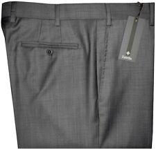 $325 NEW ZANELLA NORDSTROM DEVON DARK GRAY WEAVE SUPER 120'S WOOL DRESS PANTS 42