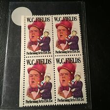 W C FIELDS - US Mint Stamp 15 cent Lot of 4 MINT NEVER USED