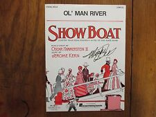 """MICHEL  BELL  Signed  9 x 12  1994 """"Ol Man River""""/""""Showboat""""  6-Page Sheet Music"""