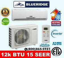 12,000 BTU 15 SEER Single Zone Ductless Mini Split Heat Pump A/C - Blueridge
