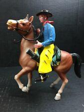 "Vintage Hong Kong Hard Plastic Cowboy w/ Horse 7.5"""