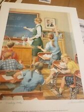 """Charles Peterson """" Taking Notes  Rare School House 441/600 Giclee Paper Mint COA"""