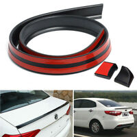 3.5cm PU 4.9ft Universal Black Car Rear Roof Trunk Spoiler Wing Lip Trim Sticker