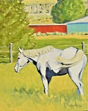 """""""8""""X10"""" Original Painting of a Horse by Ty Livingston"""