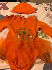 Baby Girl Pumpkin Tutu Outift With Hat 18-24 Months