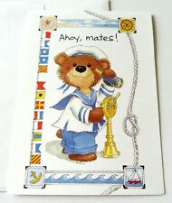 Unused Vintage Party Invitation Suzy's Zoo Ahoy Mates! Sailing Bear